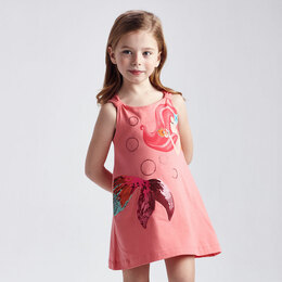 Mayoral     Mermaid Sequin Beach Cover-Up Dress - Flamingo Pink