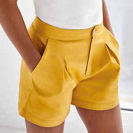 Mayoral     Satin Pleated Shorts - Mustard
