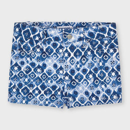 Mayoral     Printed Twill Shorts - Ink Blue