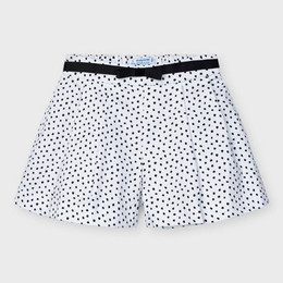 Mayoral Dotted Flared Shorts - White/Black