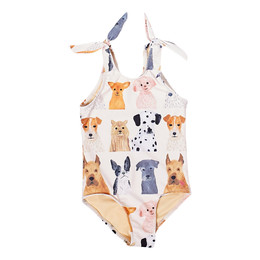 Pink Chicken     Taylor 1pc Swimsuit - Multi Watercolor Dogs