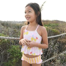 Pink Chicken     Joy 2pc Tankini Swimsuit - Antique White Lemons
