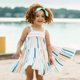 Be Girl Clothing        Playtime Favorites Garden Twirler Dress - Whimsy Stripes