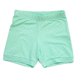 Be Girl Clothing        Playtime Favorites Cartwheel Shorties - Mint Dot