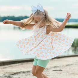 Be Girl Clothing        Playtime Favorites Trapeze Tunic - Sherbert Petals