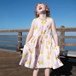 Pink Chicken      Alyssa Dress - Antique White Lemons