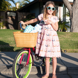 Pink Chicken      Winnie Dress - Strawberry Cream Bicycles