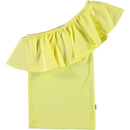Molo       Rebecca One Shoulder Organic Top - Pale Lemon