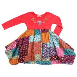 Mimi & Maggie Modern Handkerchief Dress - Multi