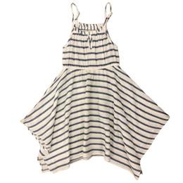 Mimi & Maggie Gentle Surf Stripe Dress - Indigo