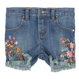 Mimi & Maggie Embroidered Flowers Short - Indigo