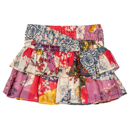 Mimi & Maggie Monique Double Ruffle Skirt - Multi
