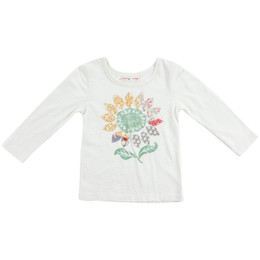 Mimi & Maggie Sunflower Seeds Tee - Natural