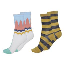Molo        Nomi Socks - 2 pack! - Flora & Stripe