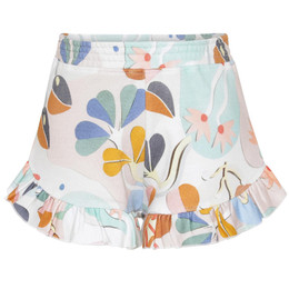 Molo        Amma Ruffle Knit Shorts - Papercut Sweat
