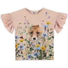 Molo        Rayah Organic Flutter Sleeve Tee - Wildflower Fox