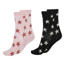 Molo        Nesi Socks - 2 pack! - Rosequartz & Black Stars