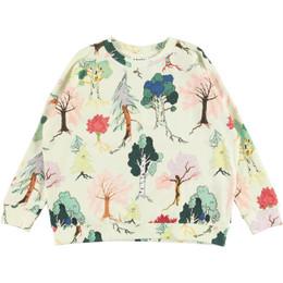 Molo        Mandy Organic Knit Sweatshirt - Forest Friends