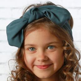Lemon Loves Lime     Bow Headband - Orion Blue