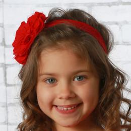 Lemon Loves Lime       Lily Pad Headband - True Red