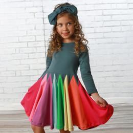 Lemon Loves Lime     Radiant Twirl Dress - Orion Blue