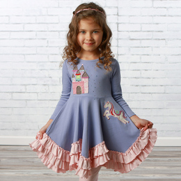 Lemon Loves Lime     Unicorn Princess Dress - Persian Violet