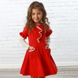 Lemon Loves Lime       Lucy Pocket Dress - True Red