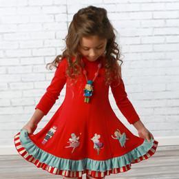 Lemon Loves Lime       The Lil Nutcracker Show Dress - True Red