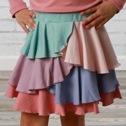 Lemon Loves Lime     Ruffle Tiered Skirt - Multi
