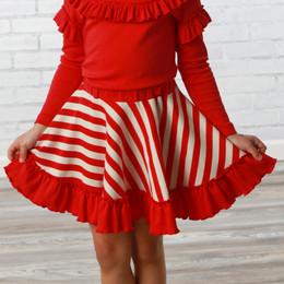 Lemon Loves Lime       Candy Cane Skirt - True Red & Eggnog