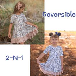 Evie's Closet          Back To School School Days / Laurel Reversible Knit Dress