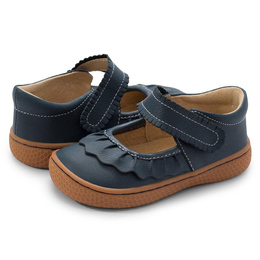 Livie & Luca     Classic Ruche Shoes - Navy (Fall 2021)