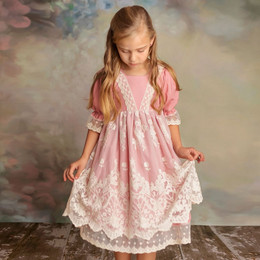 Frilly Frocks     Rose Lace Dress **PRE-ORDER**