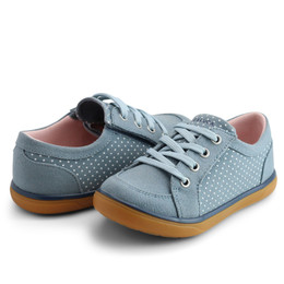 Livie & Luca     Reeve Shoes - Denim Polka Dot (Fall 2021) **PRE-ORDER**
