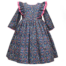 Cotton Kids   Ditsy Floral Frill Dress