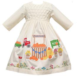 Cotton Kids   Pumpkin Patch Ecru Dress **PRE-ORDER**