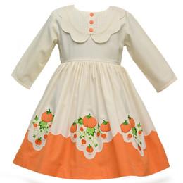 Cotton Kids   Pumpkin Scallop Dress