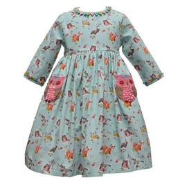 Cotton Kids   Owl Pocket Dress
