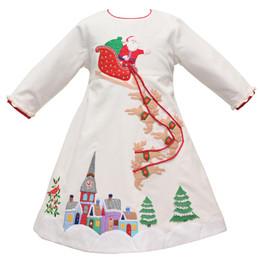 Cotton Kids   Santa Coming To Town Corduroy Dress **PRE-ORDER**