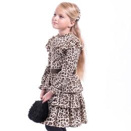 Imoga        Ophelie Printed Chiffon Dress - Jaguar