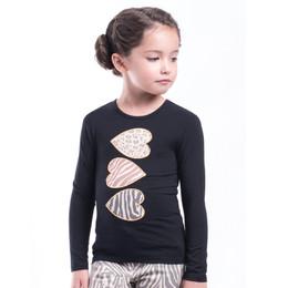 Imoga        Ariana Heart Graphic Knit Tee - Black