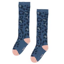 Deux Par Deux      Pinky Blue Animal Printed Knee Socks **PRE-ORDER**