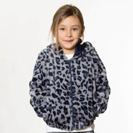 Deux Par Deux      Pinky Blue Faux Fur Hooded Zippered Jacket **PRE-ORDER**