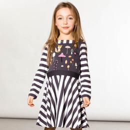 Deux Par Deux      Chanterelle or Girolle Organic Cotton Striped & Printed Dress **PRE-ORDER**