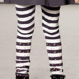 Deux Par Deux      Chanterelle or Girolle Organic Cotton Striped Leggings **PRE-ORDER**