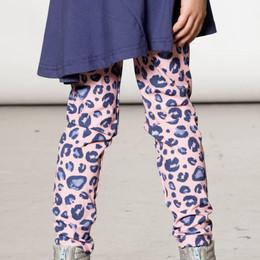 Deux Par Deux      Pinky Blue Animal Printed Leggings **PRE-ORDER**