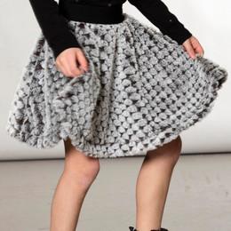 Deux Par Deux      Chic In My Shack Faux Fur Flared Skirt