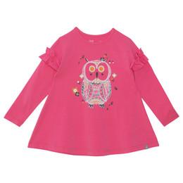 Deux Par Deux      Chanterelle or Girolle Organic Cotton Printed Tunic - Owl **PRE-ORDER**