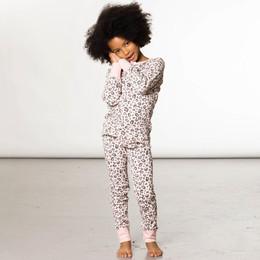 Deux Par Deux      In Your Dreams 2pc Organic Cotton Leopard Printed Pajama **PRE-ORDER**