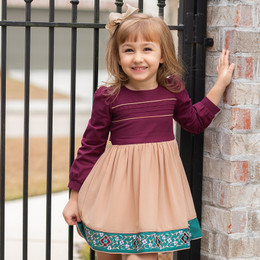 Evie's Closet         Winter Border Dress